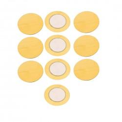 10Pcs 27 MM Piezo Ceramic Elements Sounder Sensor Trigger Drum Disc Piezoelectric Buzzer Copper For DIY