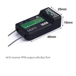 2.4G Flysky 6CH Receiver PPM Output w/iBus Port Compatible FS-i4/i6/i10