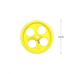 2pcs Plastic Spur gear 56 Teeth 85mm dia, 12mm Width, 6mm hole for DIY Projects