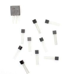 10Pcs 2N3906 BJT Bipolar Single Transistor, High Speed Switching, PNP, -40 V, 250 MHz, 625 mW, 200 mA, 100 hFE