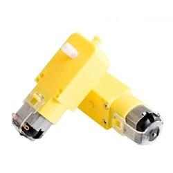 BO motor 12V DC straight shaft 200 rpm geared motor 500 gf-cm for robot smart car
