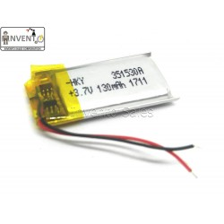 3.7V 130 mAh Li-ion Lithium battery 32x15x3 mm for GPS PDA DVD iPod Tablet PC Drones