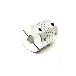 1Pcs 8x12mm Motor Jaw Shaft Coupler Aluminum 8mm 12mm Flexible Coupling for Nema 23 3D Printer Z Axis For RepRap
