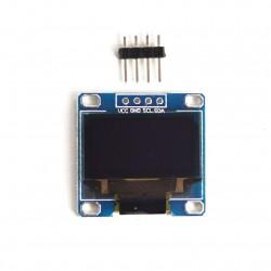 "0.96"" 128 X 64 Blue Light I2C OLED Screen Display Module For DIY"