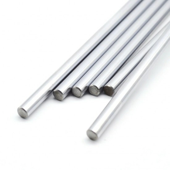2pcs EN31 Rustproof Steel Smooth Rod 8mm OD 500mm (0.5 mtr) Long for CNC Robotics Machines DIY Projects
