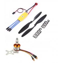 1Pcs 1000KV BLDC Brushless Motor + 30A ESC + 1045 10x4.5 10 inch Propeller Quadcopter mini kit