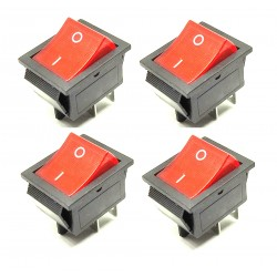 4Pcs KCD4 DPST ON-Off 4 Pin Rocker Boat Switch Indicator 16A/20A AC 250V/125V for Car Motorcycle Electrical DIY